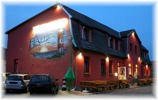 Gasthaus Haffblick im Fischerdorf Kamminke